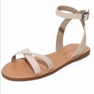 Madewell Boardwalk crisscross sandal 9 tan flax